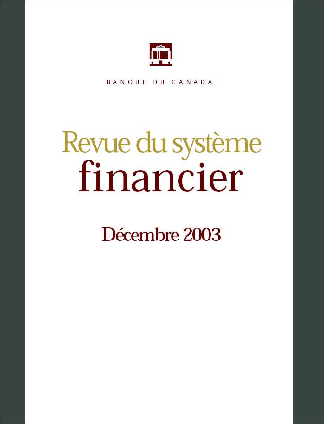 Revue du système financier - Décembre 2003
