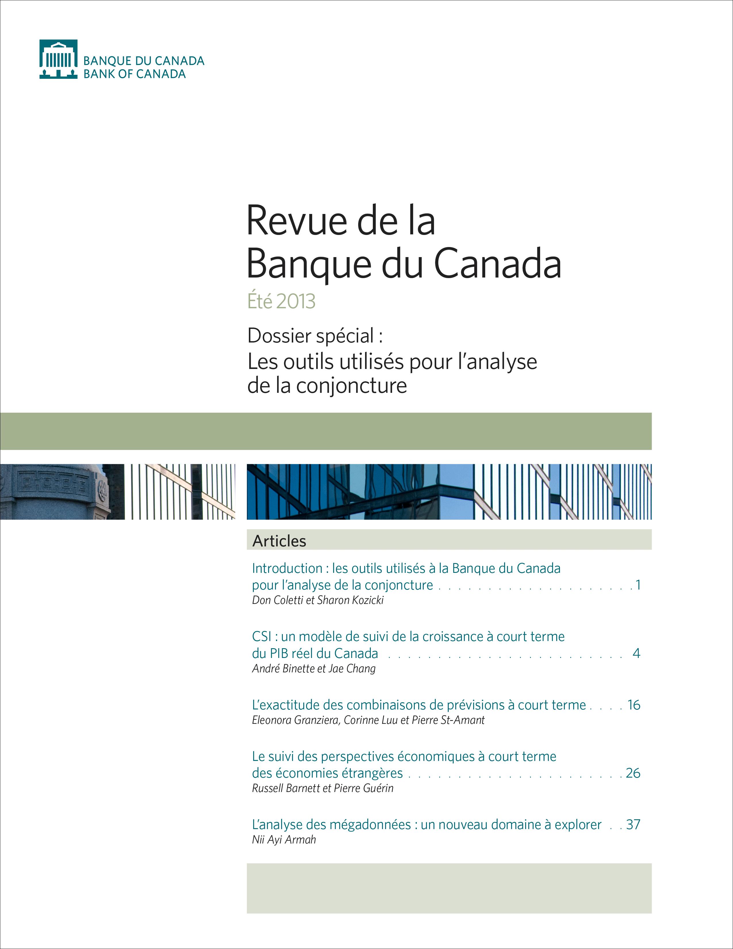 Revue de la Banque du Canada - Été 2013
