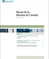 Revue de la Banque du Canada - Automne 2013