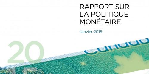 Rapport sur la politique monétaire - Janvier 2015