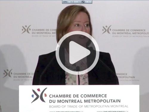 Chambre de commerce du montr al m tropolitain discours for Chambre de commerce tuniso canadienne
