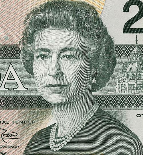 Détail de la coupure de 20 $, série Les oiseaux du Canada, Banque du Canada, émission du 29 juin 1993