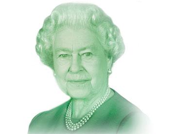 L'institution a pour approche de créer un portrait actuel de la Reine chaque fois qu'une nouvelle série de billets est émise.