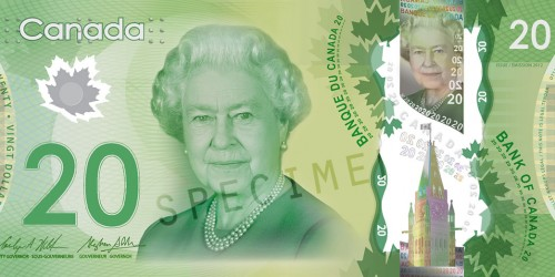 Front of $20 Note