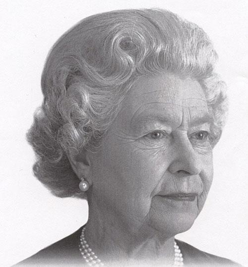 La reine Elizabeth II, photographie : Charles Green, tirage, vers 2000, acquisition en 2012 auprès du département de la Monnaie de la Banque du Canada, Collection nationale de monnaies, code : 2012.0063.00347