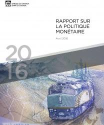 Rapport sur la politique monétaire - Avril 2016