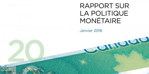 Rapport sur la politique monétaire - Janvier 2016
