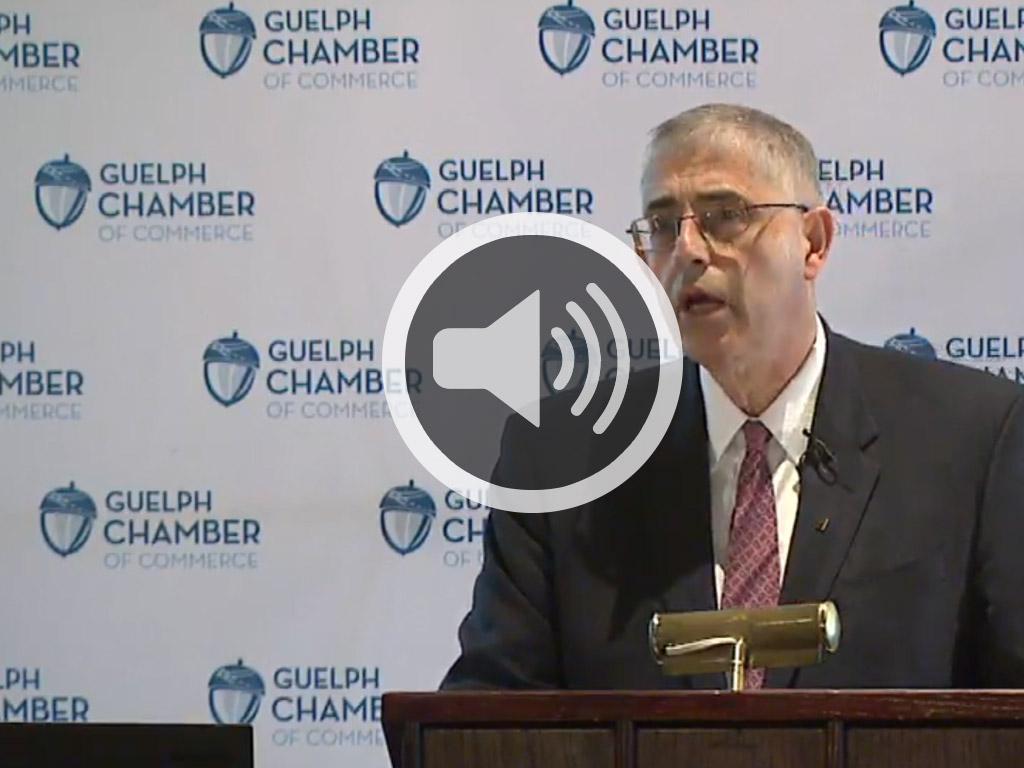 Chambre de commerce de guelph discours audio banque for Chambre de commerce tuniso canadienne