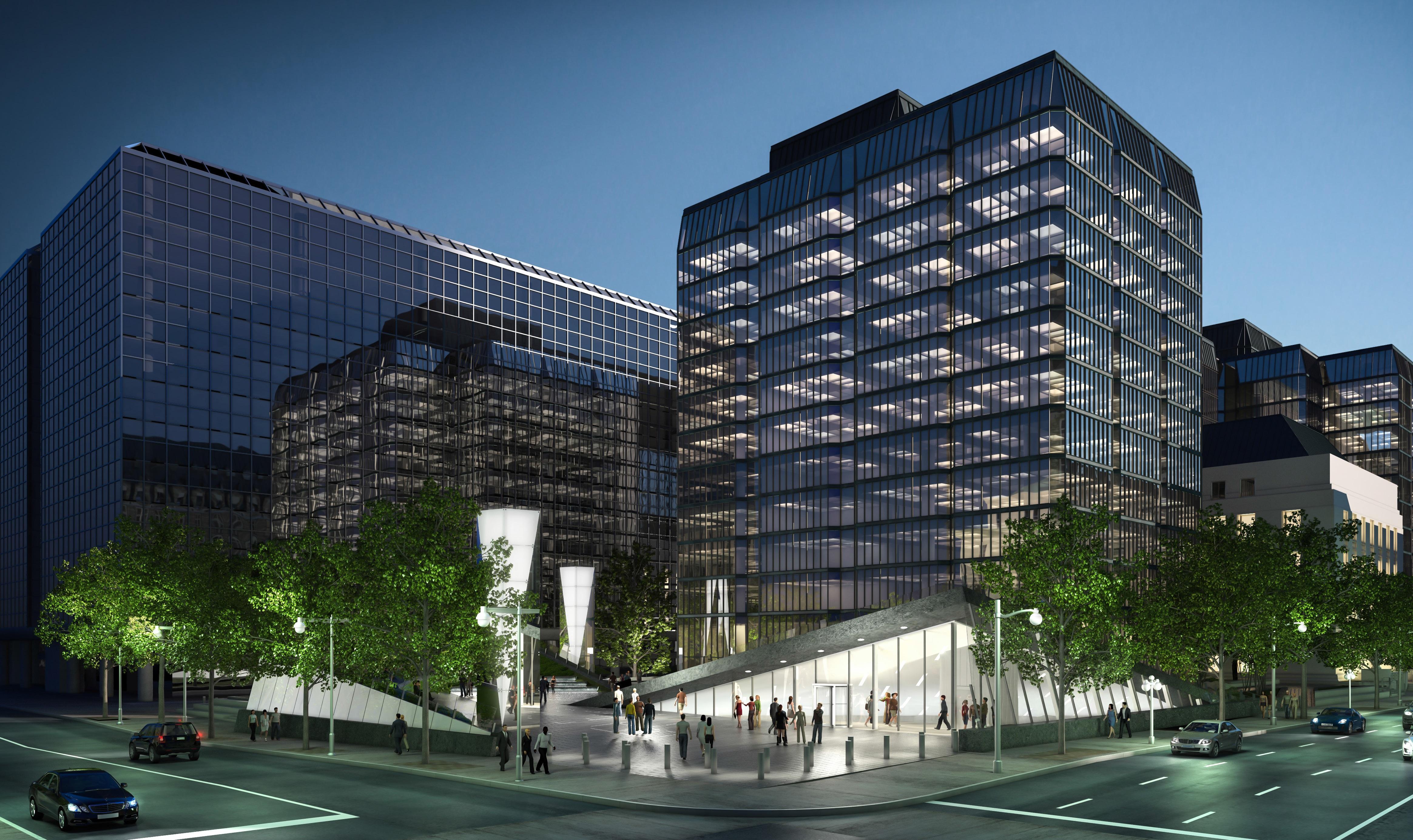 Une fois achevée, la structure composée principalement de granit, d'acier, de verre et de béton offrira un espace total de 836 000 pieds carrés.
