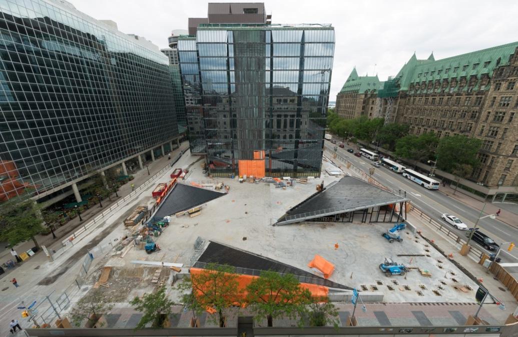 La nouvelle terrasse sera une place publique animée.