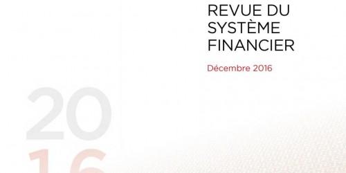 Revue du système financier - Décembre 2016