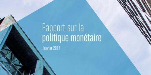 Rapport sur la politique monétaire - Janvier 2017