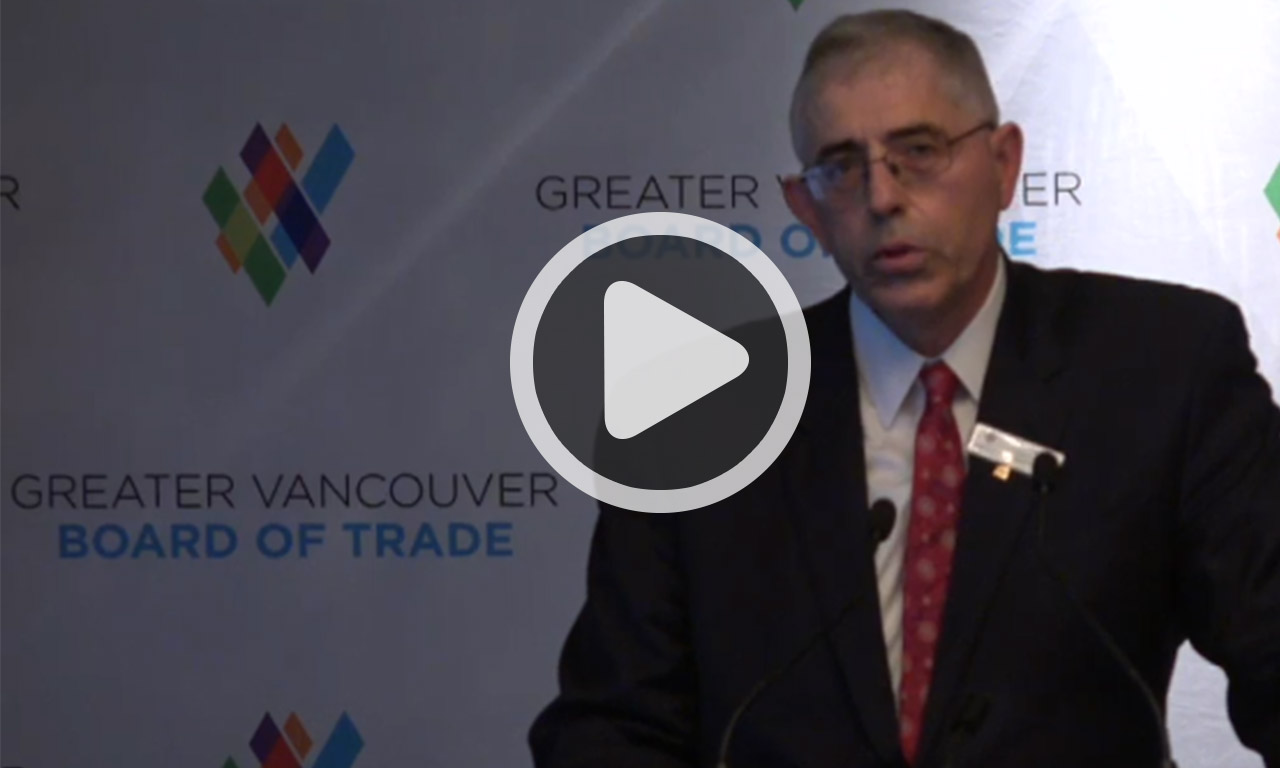 Chambre de commerce du grand vancouver discours for Chambre de commerce du canada