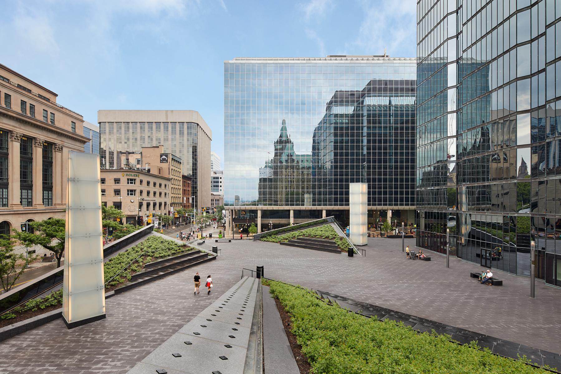 La terrasse de la Banque du Canada