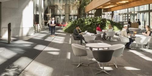 L'atrium de la Banque du Canada. Source : Doublespace