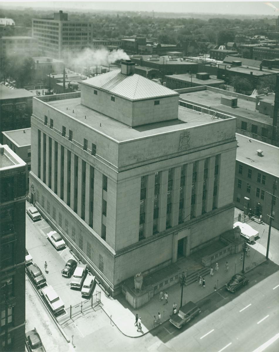 L'immeuble de la Banque du Canada en 1964. Source : Newton Photography Associated