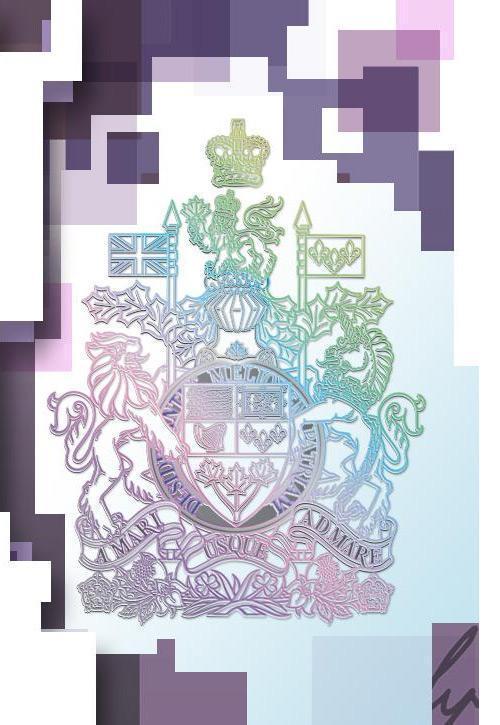 Armoiries canadiennes à reflets métalliques sur un billet de 10 $