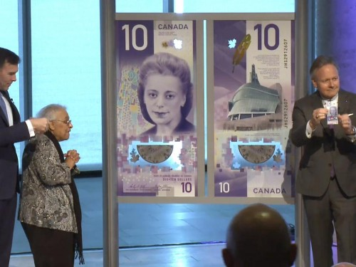 Unveiling of new $10 bank note